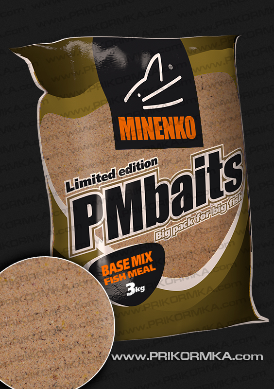 Базовый микс Minenko PMbaits Base mix fish meal 3 кг (Микс для бойлов)